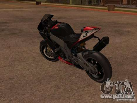 Aprilia RSV4 for GTA San Andreas back left view