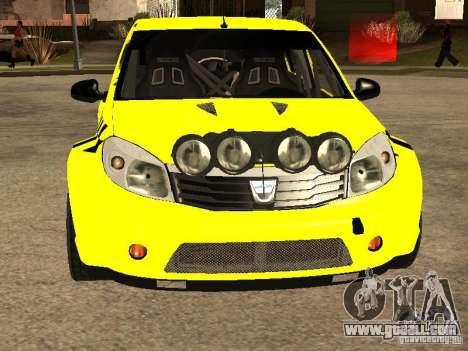 Dacia Sandero Speed Taxi for GTA San Andreas inner view