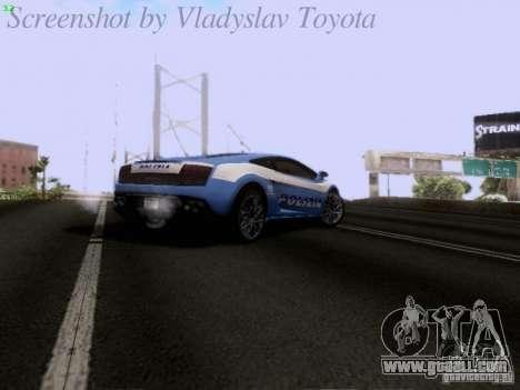 Lamborghini Gallardo LP560-4 Polizia for GTA San Andreas upper view