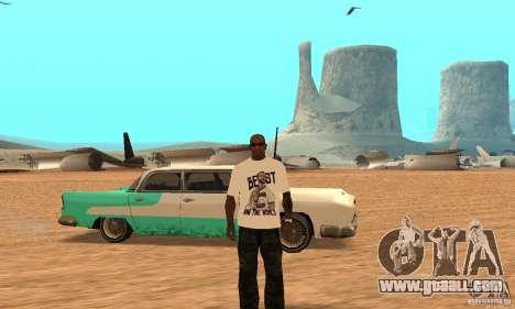 WWE CM Punk T-shirt for GTA San Andreas