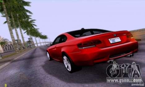BMW M3 E92 v1.0 for GTA San Andreas left view