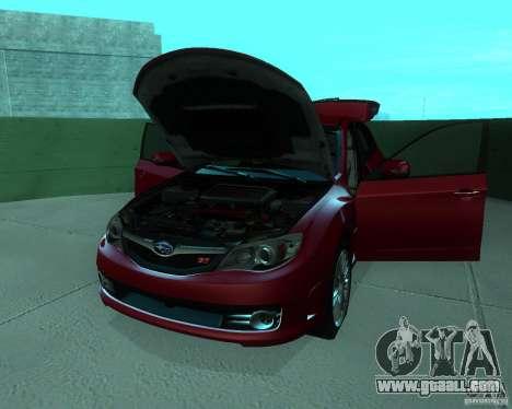 Subaru Impreza WRX STI Stock for GTA San Andreas back view
