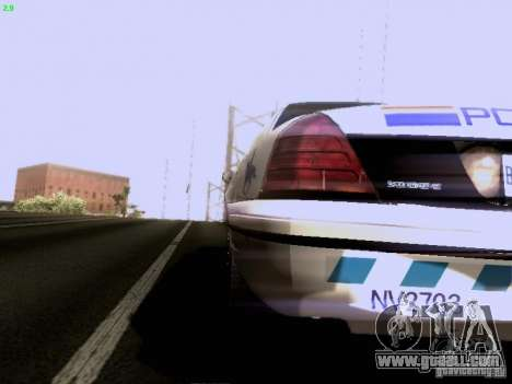 Ford Crown Victoria Canadian Mounted Police for GTA San Andreas back left view