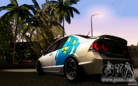 Honda Civic FD BlueKun for GTA San Andreas back left view