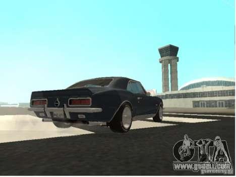 Chevrolet Camaro SS 396 Turbo-Jet for GTA San Andreas back view
