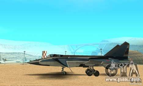 MiG-31 Foxhound for GTA San Andreas