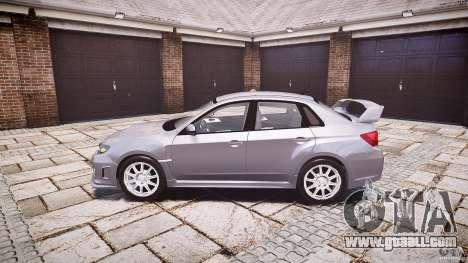 Subaru Impreza WRX 2011 for GTA 4 left view