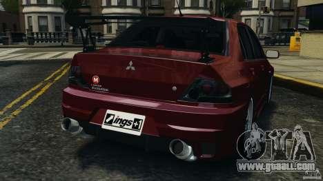 Mitsubishi Lancer Evolution 8 for GTA 4 back left view