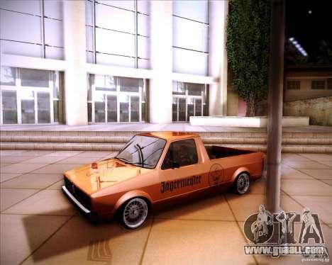 Volkswagen Caddy Custom 1980 for GTA San Andreas back view
