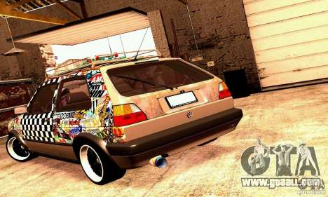 Volkswagen MK II GTI Rat Style Edition for GTA San Andreas right view