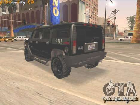 FBI Hummer H2 for GTA San Andreas left view