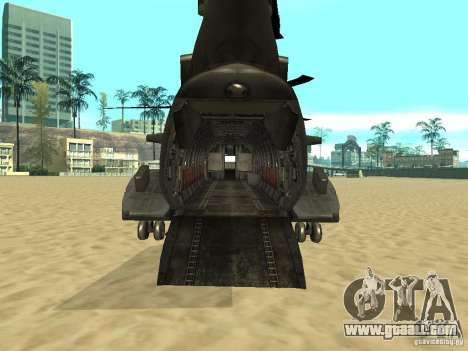 Helicopter Leviathan for GTA San Andreas back left view