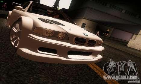 BMW M3 GTR v2.0 for GTA San Andreas back left view