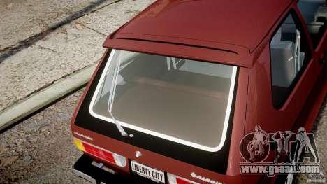 Volkswagen Rabbit 1986 for GTA 4 upper view