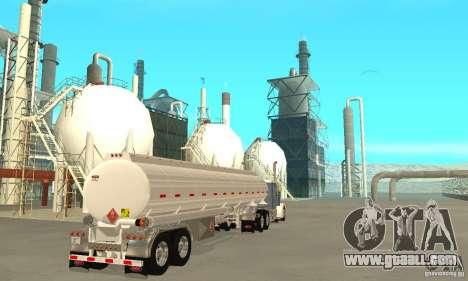Peterbilt 379 Custom And Tanker Trailer for GTA San Andreas back left view