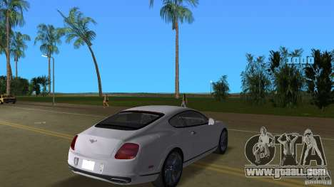Bentley Continental Supersport for GTA Vice City right view