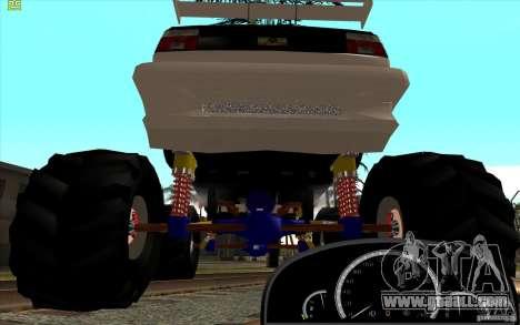 Jetta Monster Truck for GTA San Andreas back left view
