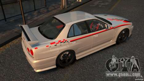 Nissan Skyline ER34 Nismo Z Tune for GTA 4 right view
