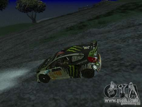 Ford Fiesta Ken Block WRC for GTA San Andreas right view