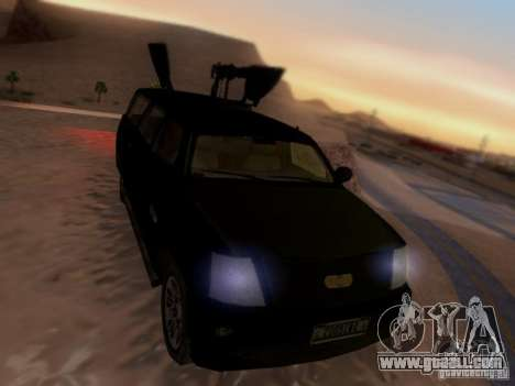 Suv Call Of Duty Modern Warfare 3 for GTA San Andreas back left view