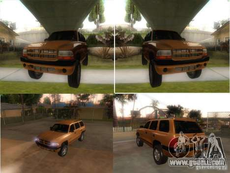 Dodge Durango 1998 for GTA San Andreas right view