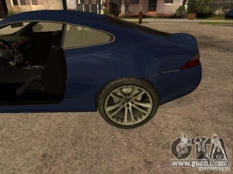 Jaguar XK for GTA San Andreas right view
