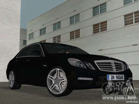 Mercedes-Benz E63 AMG for GTA Vice City inner view