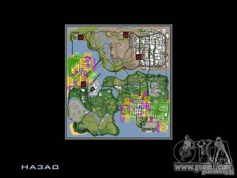 San Fierro and Los Santos Gang Zone for GTA San Andreas