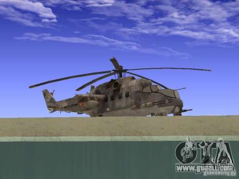 Mi-24 of COD MW 2 for GTA San Andreas back left view