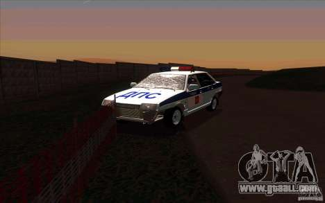 Vaz 21099, police for GTA San Andreas back view
