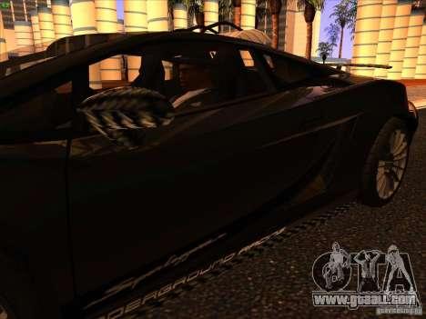 Lamborghini Gallardo Underground Racing for GTA San Andreas bottom view