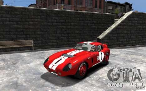 Shelby Cobra Daytona Coupe 1965 for GTA 4