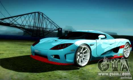 Koenigsegg CCX for GTA San Andreas side view