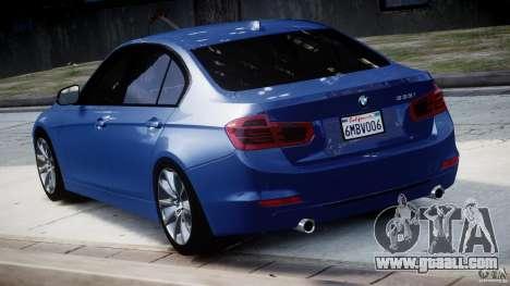 BMW 335i E30 2012 Sport Line v1.0 for GTA 4 back left view