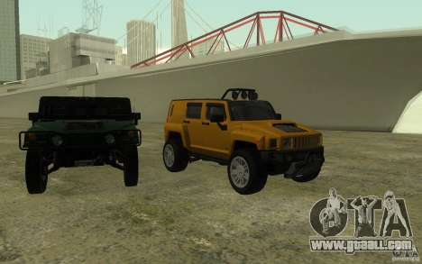 Hummer H3R for GTA San Andreas upper view