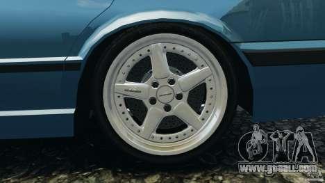 BMW E34 V8 540i for GTA 4 upper view