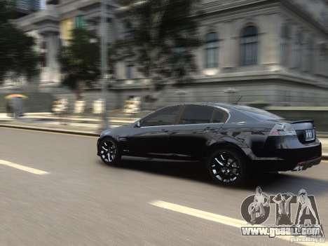 Pontiac G8 GXP for GTA 4 back view