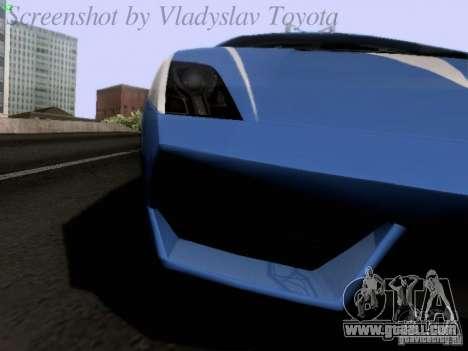 Lamborghini Gallardo LP560-4 Polizia for GTA San Andreas inner view