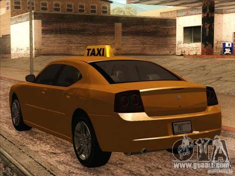 Dodge Charger STR8 Taxi for GTA San Andreas right view