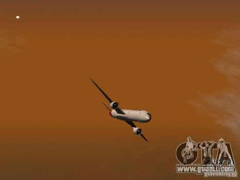 Boeing 787 Dreamliner Qantas for GTA San Andreas upper view