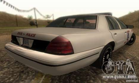 Ford Crown Victoria Louisiana Police for GTA San Andreas left view