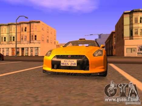Nissan GT-R SpecV Black Revel for GTA San Andreas left view