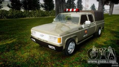Chevrolet D20 Brigada Militar RS for GTA 4 back view