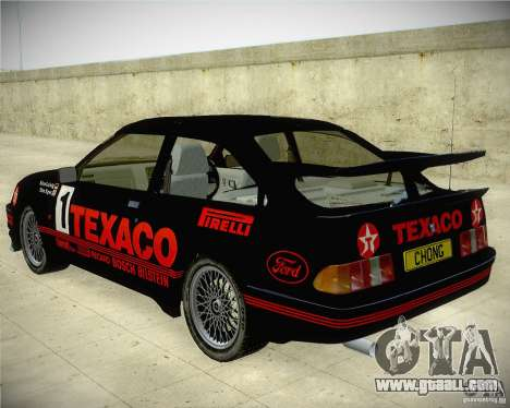 Ford Sierra RS500 Race Edition for GTA San Andreas left view