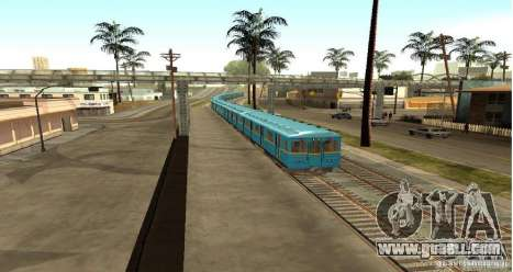 Metro type HEDGEHOG for GTA San Andreas back left view