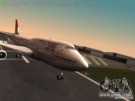 Boeing 747-446 Japan-Airlines for GTA San Andreas
