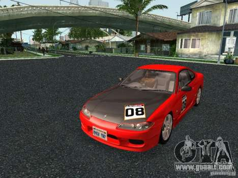 Nissan Silvia S15 Tunable for GTA San Andreas back left view