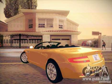 Aston Martin DB9 Volante v.1.0 for GTA San Andreas right view