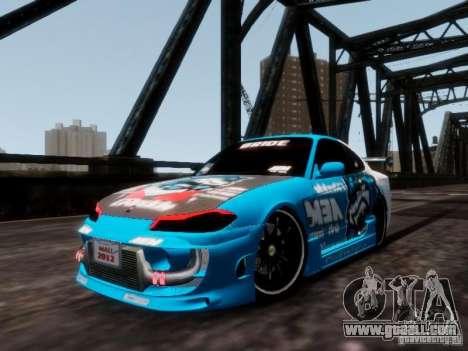 Nissm Silvia S15 Blue Tiger for GTA 4