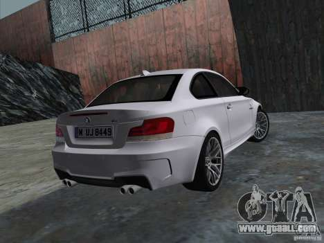BMW 1M Coupe RHD for GTA Vice City right view